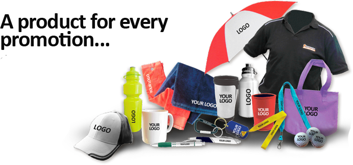 Promotional Products (pens, duffel bags, etc...)