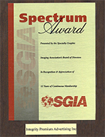 SGIA Presents IPA 15 Year Spectrum Award