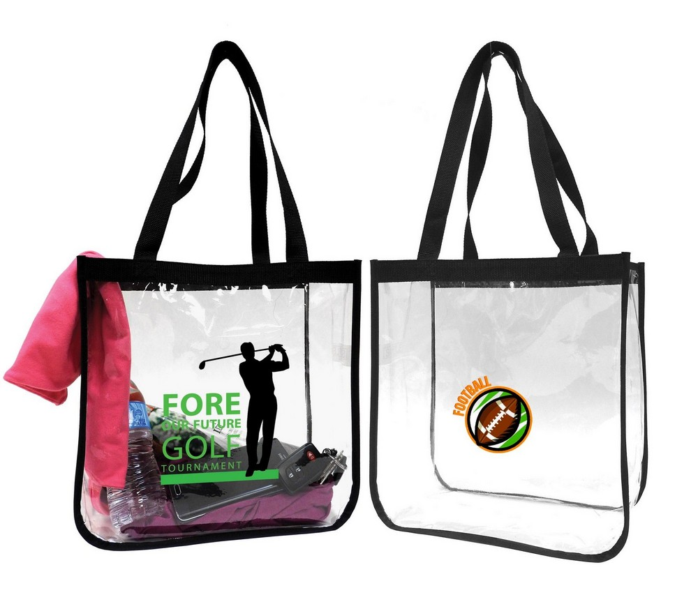 CLEAR SECURITY OPEN TOTE BAG