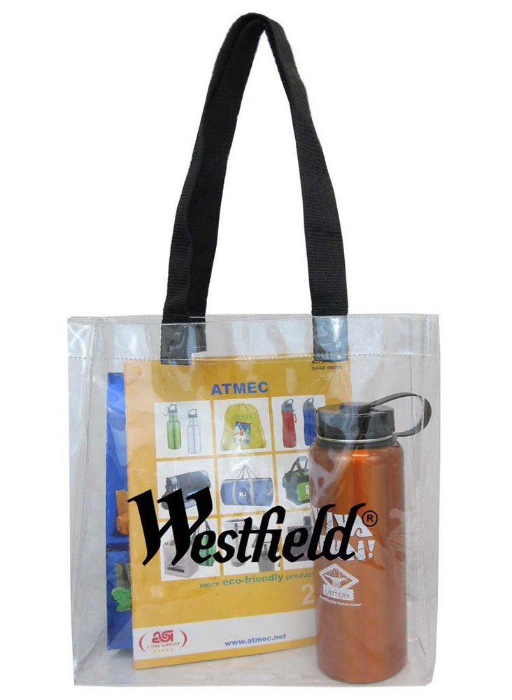 NFL APPROVED CLEAR TOTE W/WEBBING HANDLES