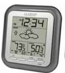 Custom Wireless Weather Station with Indoor/Outdoor Temp & Min/Max Temp (Gray)