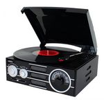 Custom Jensen Audio 3 Speed Stereo Turntable w/AM/ FM Stereo Radio, Pitch Control