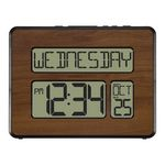 Custom La Crosse Technology Atomic Digital Wall Clock (Walnut)