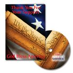 Custom Patriotic Thank You Greeting Card with Matching CD