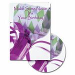 Custom Make Some Noise Birthday Greeting Card with Matching CD