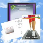 Custom Cloud Nine Wellness/Exercise/Healthcare Music Download Greeting Card/ Work Out to the Beat