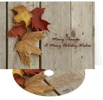 Custom Thanksgiving Thank You Greeting Card with Matching CD
