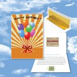 Custom Cloud Nine Birthday Music Download Greeting Card w/ Happy Birthday Balloons