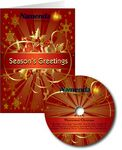 Custom Red & Gold Mantovani Christmas Greeting Card with Matching CD