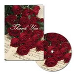 Custom Red Roses and Music Thank You Note with Matching CD