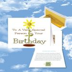 Custom Cloud Nine Birthday Music Download Greeting Card w/ Special Person on Your Birthday
