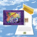 Custom Cloud Nine Birthday Music Download Greeting Card w/ Birthday Greetings