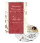 Custom Holiday Wishes Greeting Card with Matching CD