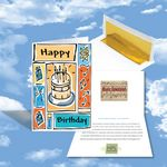 Custom Cloud Nine Birthday Music Download Greeting Card w/ Birthday Cake On Front