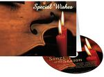 Custom Candles & Violin Special Wishes Holiday Greeting Card with Matching CD