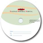 Custom 700MB CD-R Stock Graphics - Radiology Swirl Graphic