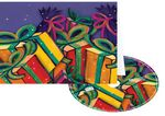 Custom Bundle of Gifts Holiday Greeting Card with Matching CD
