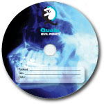 Custom 700MB CD-R Stock Graphics - Radiology / X-Ray Graphic