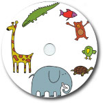 Custom 700MB CD-R Stock Graphics - Animals Graphic