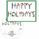 Custom Happy Holidays People Greeting Card with Matching CD