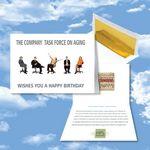 Custom Cloud Nine Birthday Music Download Greeting Card w/ The Company Task Force On Aging