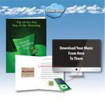 Custom Cloud Nine Saint Patrick's Day Music Download Greeting Card