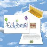 Custom Cloud Nine Birthday Music Download Greeting Card w/ Celebrate