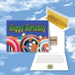 Custom Cloud Nine Birthday Music Download Multicolor Greeting Card w/ Happy Birthday