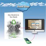 Custom Cloud Nine Earth Day Music Download Greeting Card