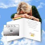 Custom Cloud Nine Wellness/Relaxation/Healthcare Music Download Greeting Card / Spa Light