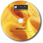 Custom 700MB CD-R Stock Graphics - Financial Adding Machine Tape Graphic
