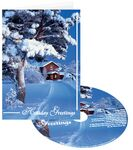 Custom Snow at Home Holiday Greeting Card with Matching CD