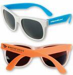 Custom Neon Sunglasses w/White Frame
