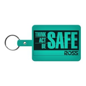 Large Rectangle Flexible Key Tag