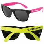 Custom Neon Sunglasses w/Black Frame