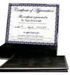 Custom Black Faux Leather Certificate Holder
