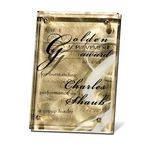Custom Fascinating Gold Stainless Plaque (5