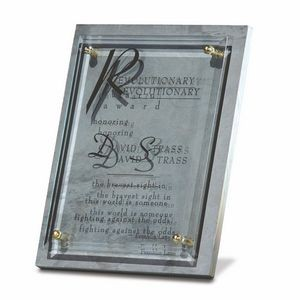 "Glass & Slate Plaque (8 3/4""x10 3/4"")"