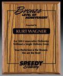 Custom Ravena Wood Plaque Award (5