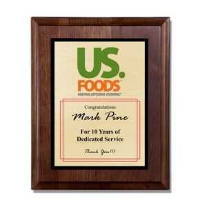 "Nantucket Wood Plaque Award (9""x12"")"