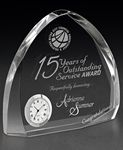 Custom Elliptic Crystal Award Clock