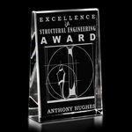 Custom Clear Distinction Crystal Award (5