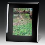 Custom Black Glass Photo Frame