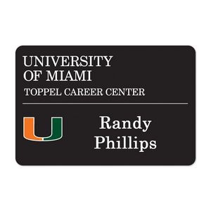 "Laminated Personalized Name Badge (2x3"") Rectangle"