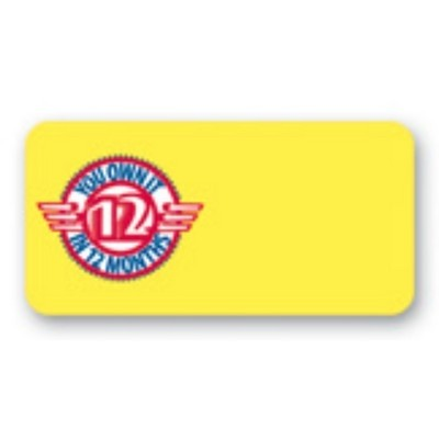 "Name Badge, Rectangle Full Color - No Personalization (1""x2"")"