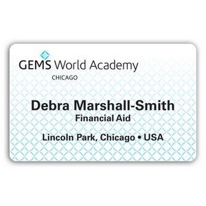 "Laminated Personalized Name Badge (2.125x3.375"") Rectangle"