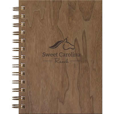 "Wire Bound WoodGrain Journals - NotePad (5""x7"")"
