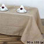 Custom 6' Jute/Burlap Table Cover 86