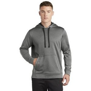 Sport-Tek® PosiCharge® Sport-Wick® Heather Fleece Hooded Pullover