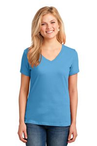 Port & Company Ladies 5.4 Oz. 100 percent Cotton V-Neck T-Shirt